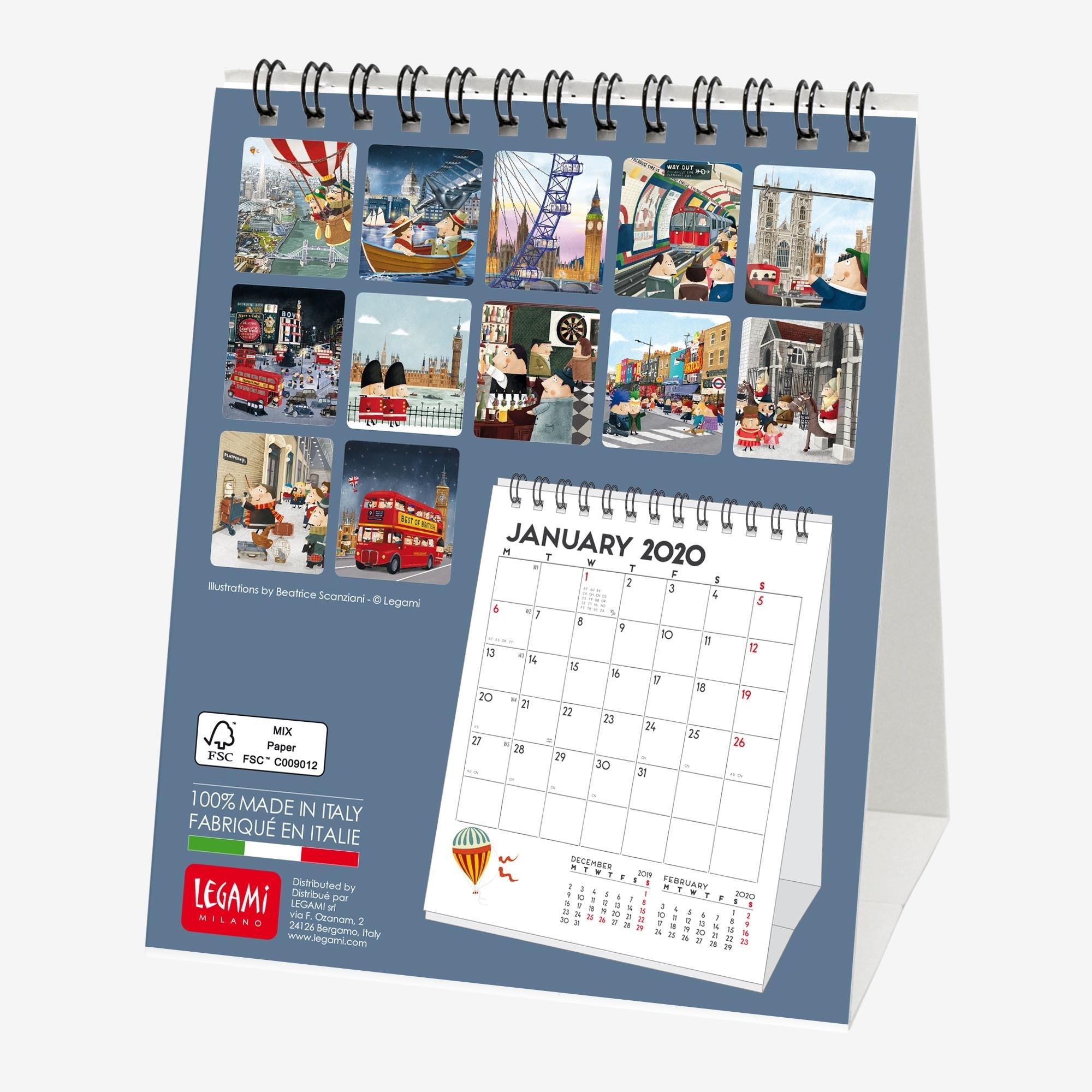 2020 - Desk Calendar - 12X14,5 Cm London Calendar Printing London Ontario