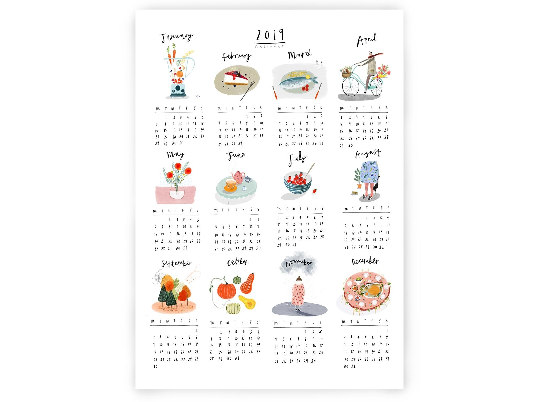 26 Best Calendars And Wall Planners For 2019   The Independent Calendar Printing London Ontario