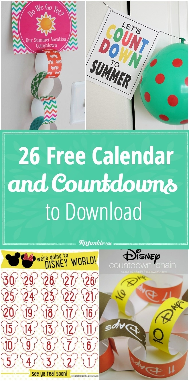 26 Free Calendar And Countdowns To Download For May – Tip Junkie Countdown Calendar To Retirement Desktop