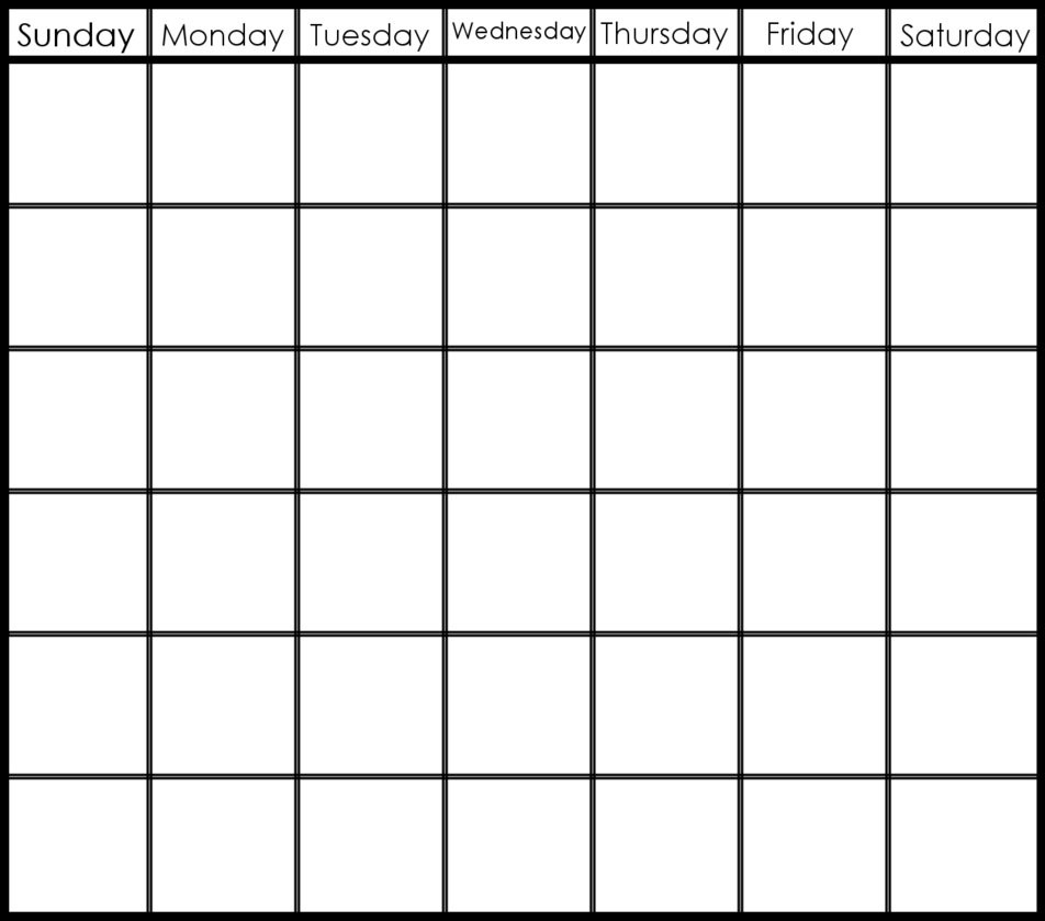 6 Week Blank Calendar Template – Get Your Calendar Printable Dashing 6 Week Blank Calendar Printable