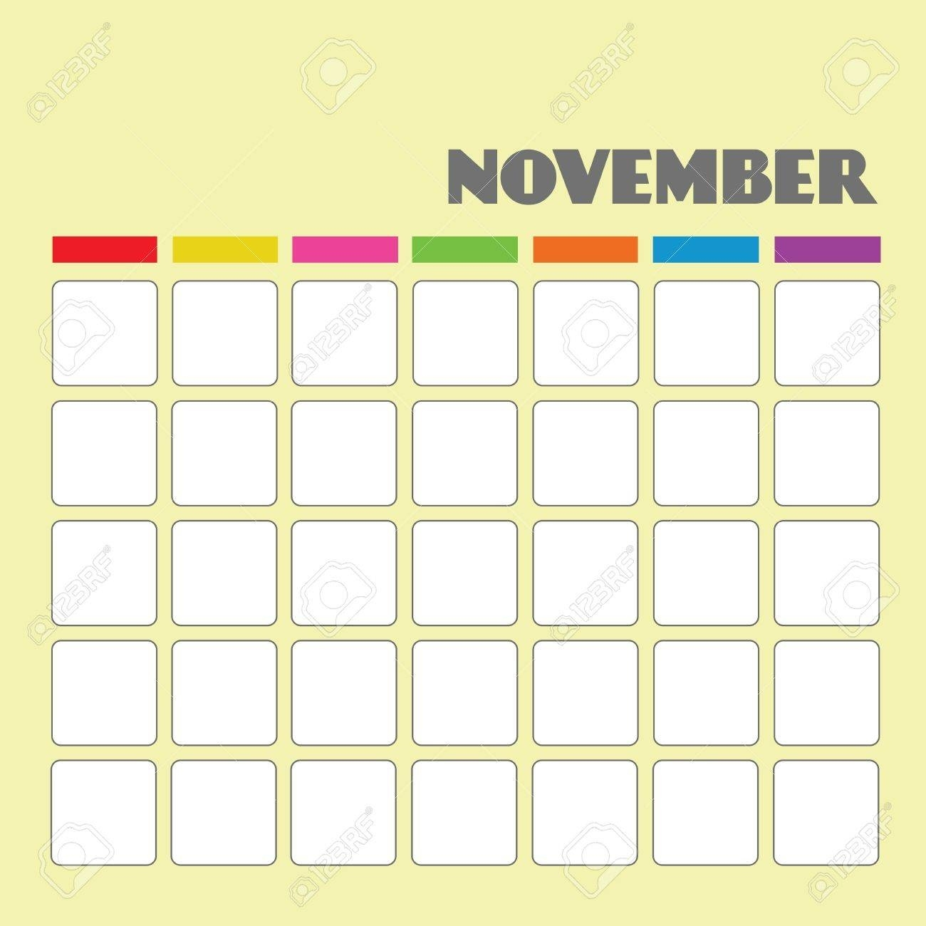 Blank Calendar For Your Use Royalty Free Cliparts, Vectors, And Blank Calendar To Use
