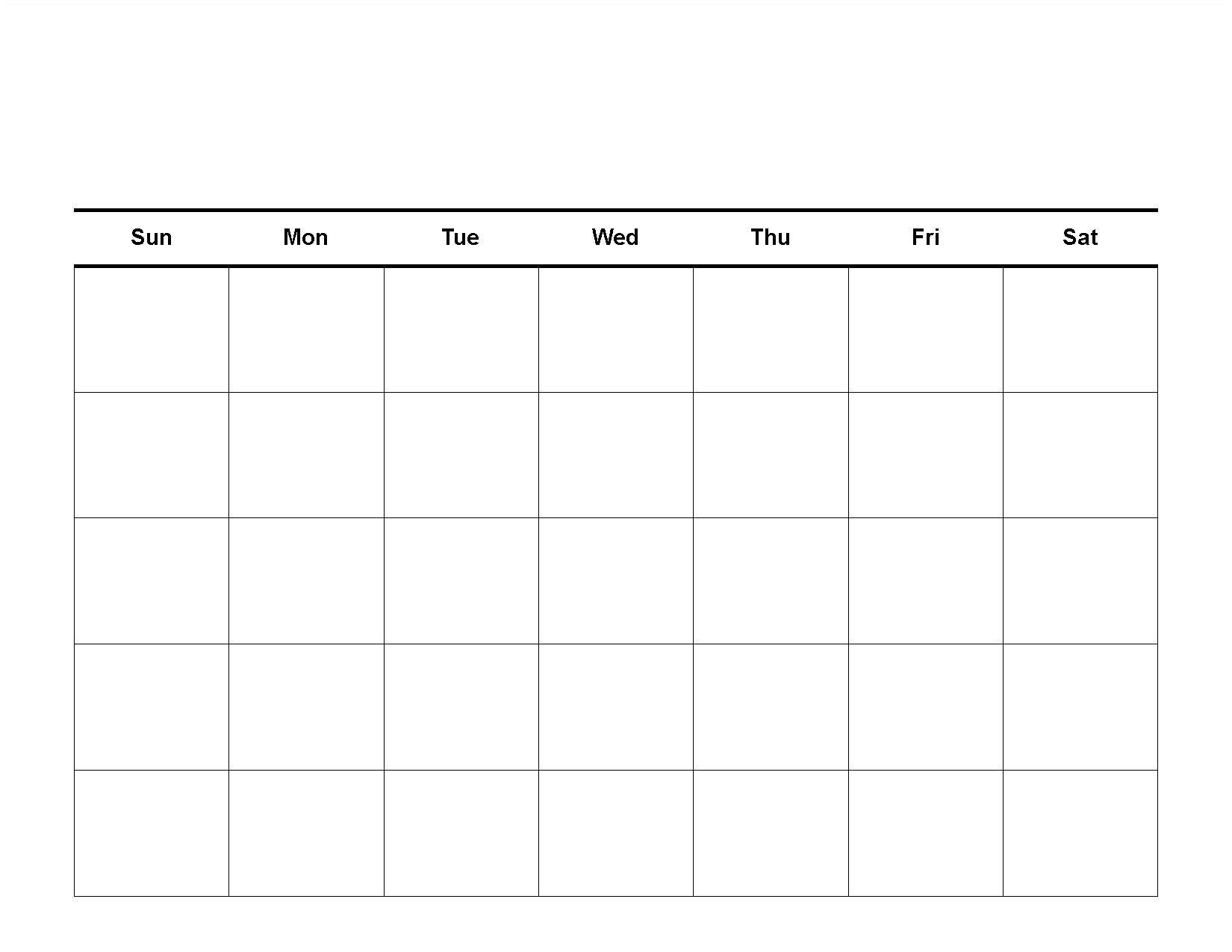 Blank Monthly Calendar Pdf Free Printable Blank Calendar Template Blank Calendar In Pdf