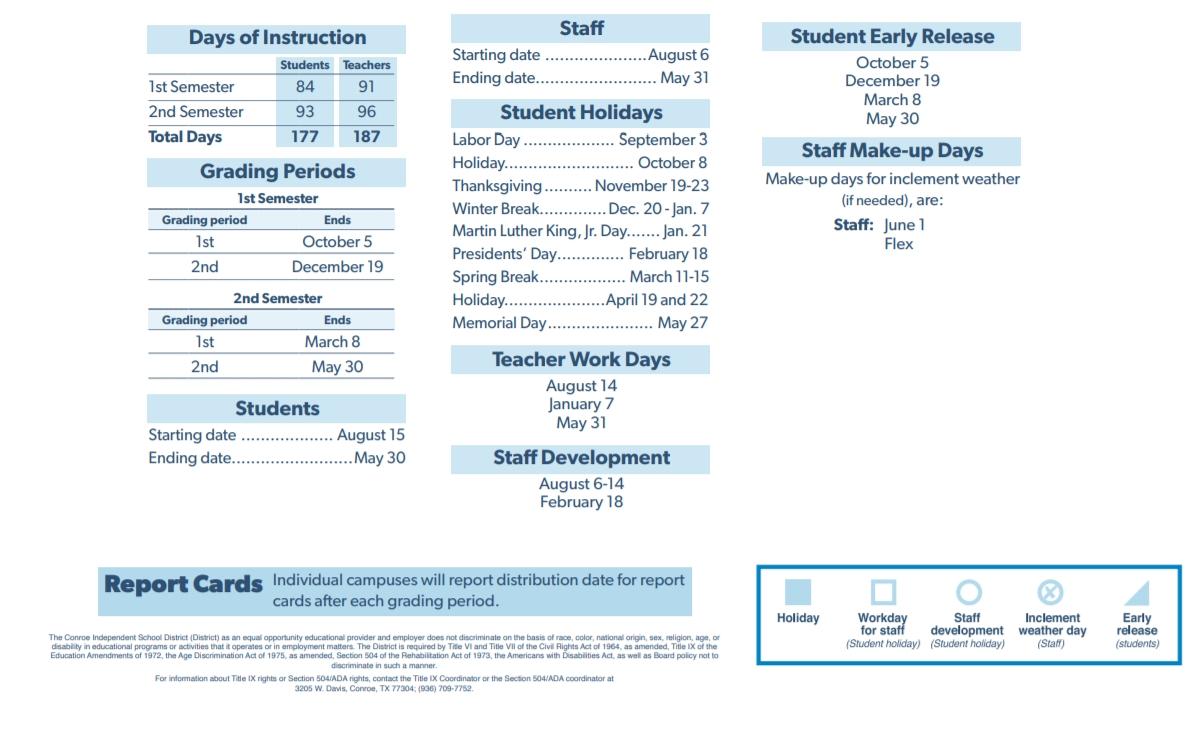 C D York Junior High - School District Instructional Calendar Perky York 1 School Calendar