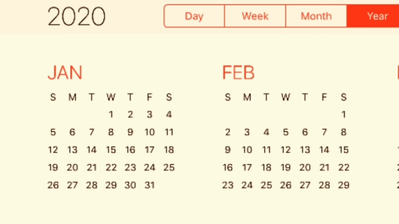 Calendar 2020 - Youtube Extraordinary 2020 Ka Calendar Hindi Mai