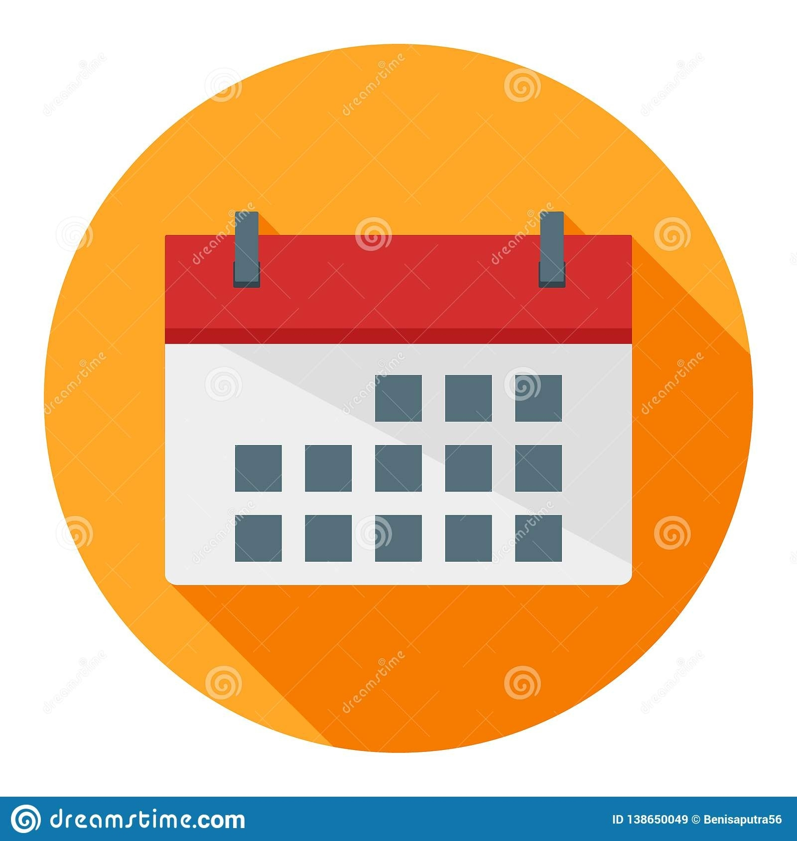 Calendar Business Flat Icon, Date, Event Stock Vector - Illustration Calendar Date Event Icon