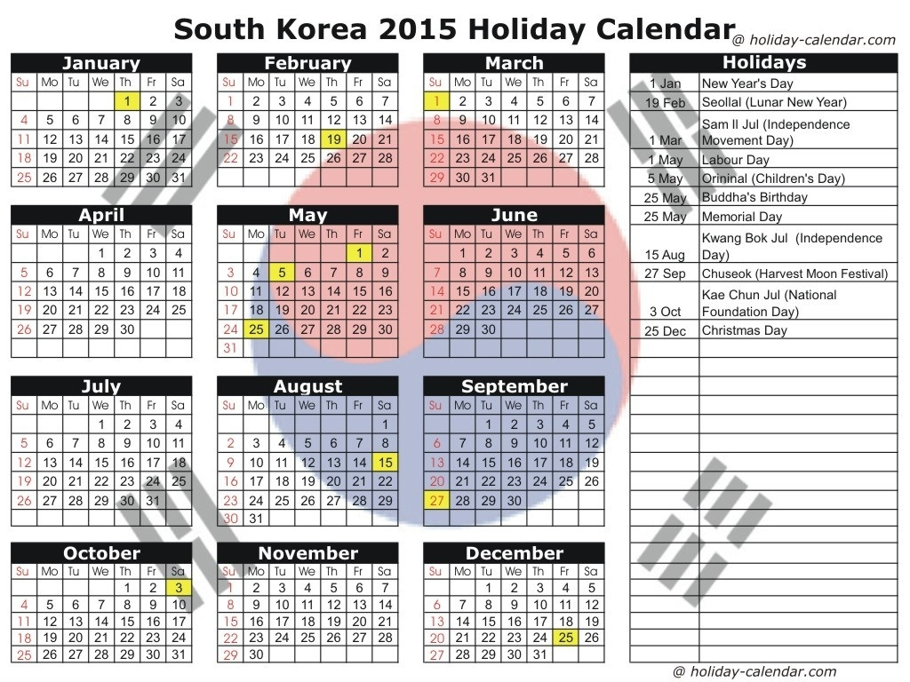 Calendar Korean Holidays | 25 Day Of Christmas 2014 Schedule Iphone Calendar Korean Holidays