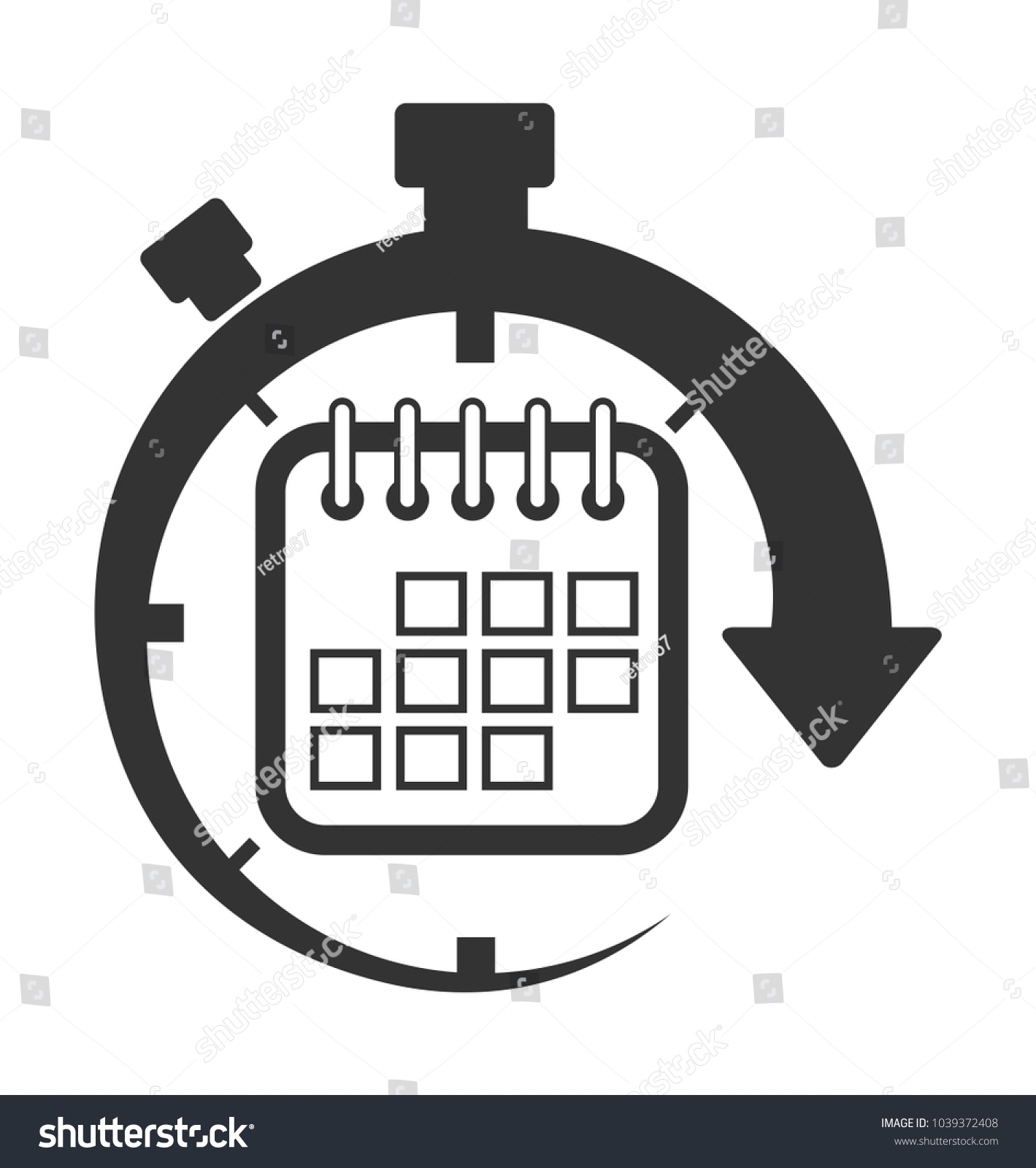 Calendar Time Date Event Icon Stock Vector (Royalty Free) 1039372408 Calendar Date Event Icon