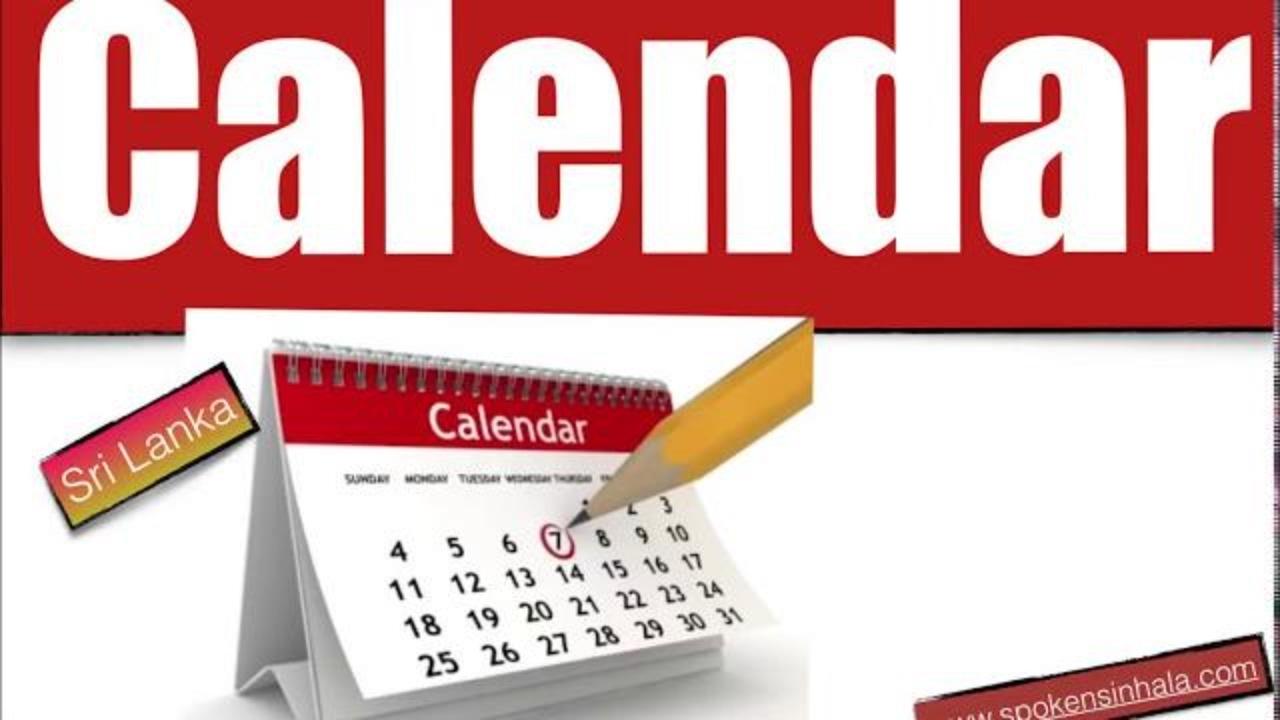 Calendar, Year, Months, Buddhist Months, Days, Holidays In Sinhala Calendar Month In Sinhala