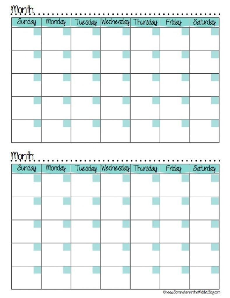 Calendars 2 Months Per Page Seven Photo And Month Calendar Printable 2 Month Calendar Blank