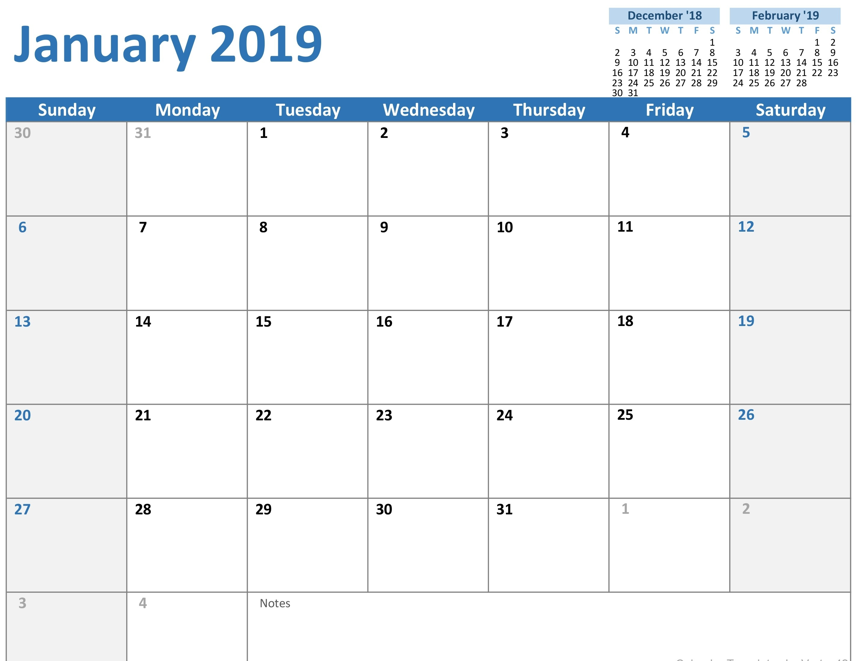Calendars - Office 2020 Calendar Printable Word