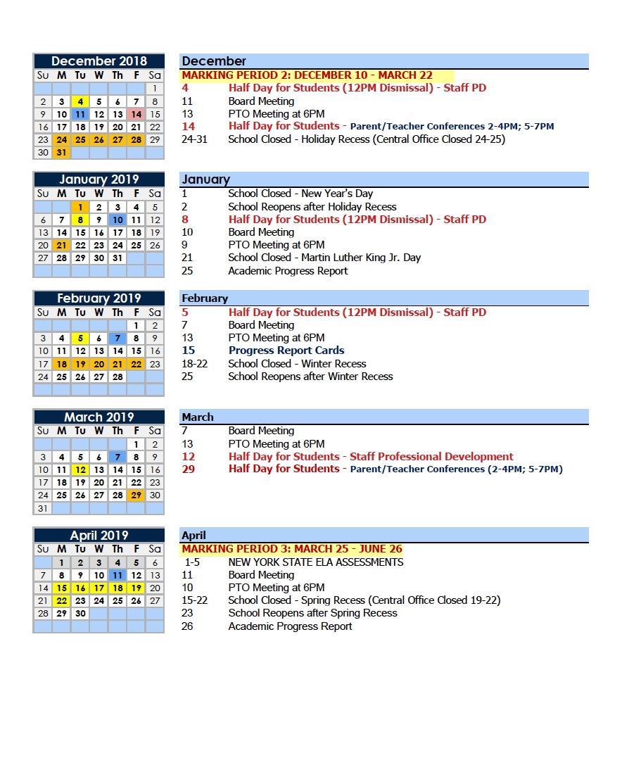 Calendars – Parents – Charter School Of Educational Excellence Perky York 1 School Calendar