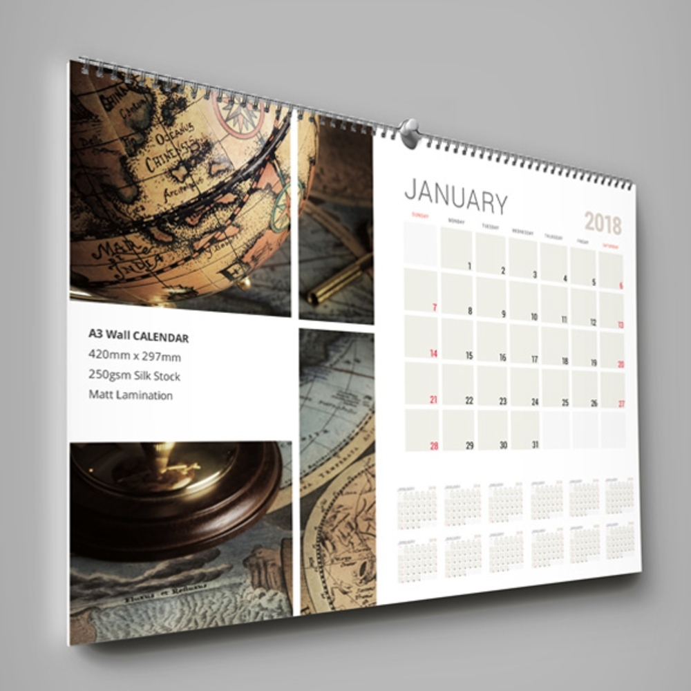 Calendars, Wall Planners, Christmas Cards & Gifts | The Print Quarter A3 Wall Calendar Printing