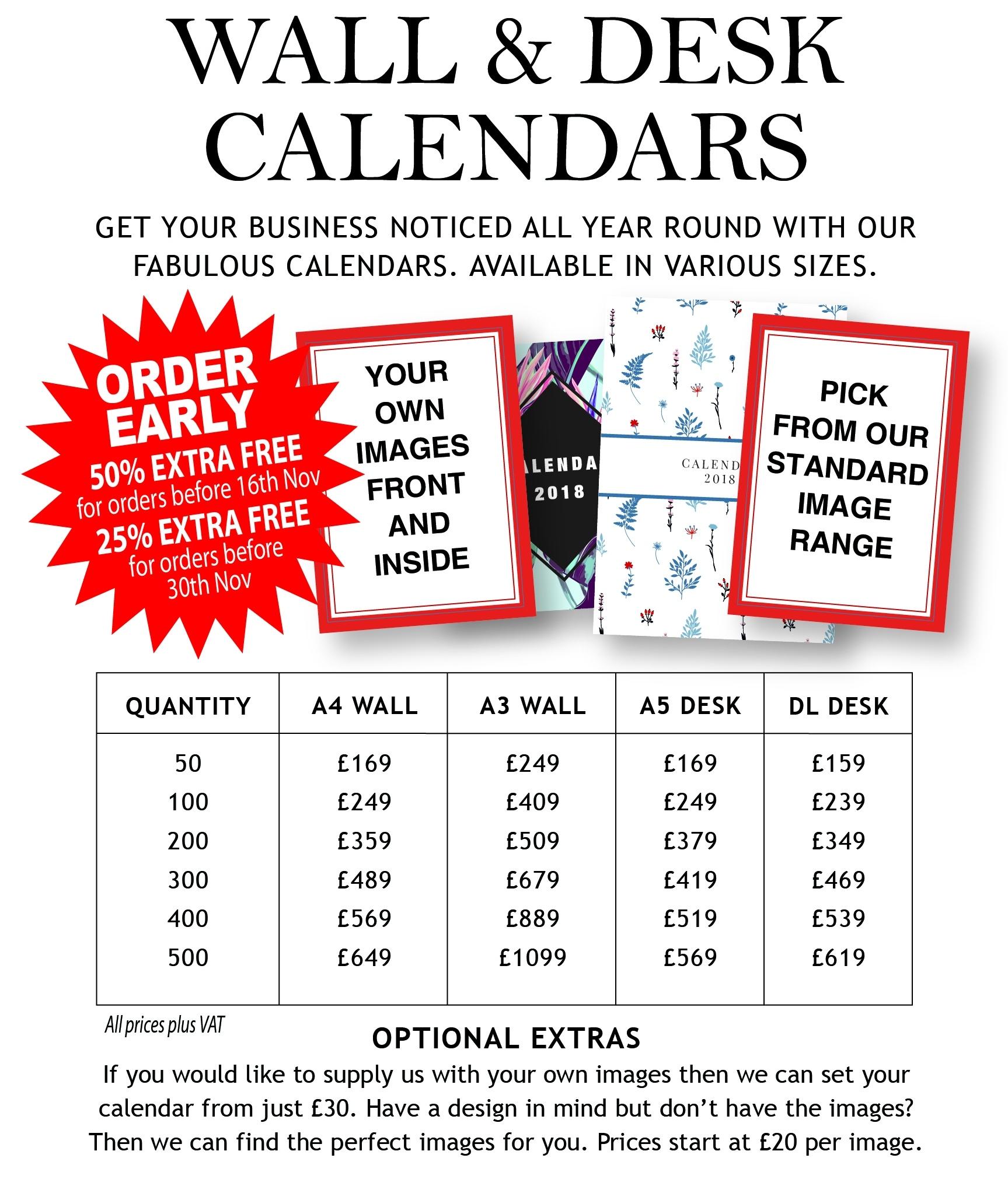 Christmas Cards And Calendars - Www.printandlabel Calendar Printing Price List
