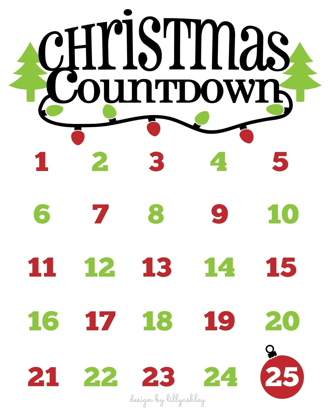 Christmas Countdown Free Printable And Free Svg | Cricut | Christmas Christmas Countdown Calendar App