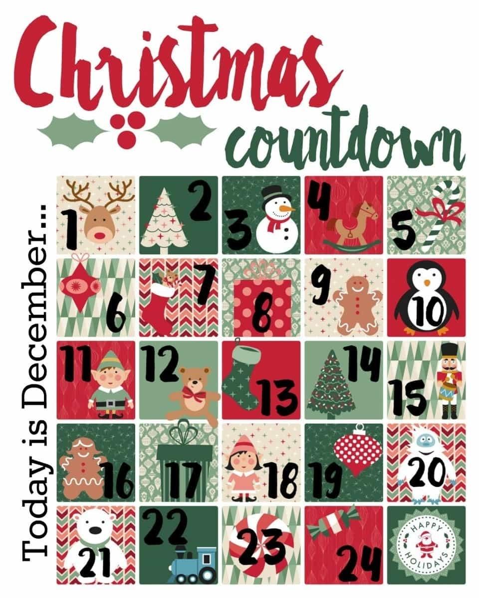Christmas Countdown Printable - A Mom's Take Advent Calendar Countdown Or Count Up