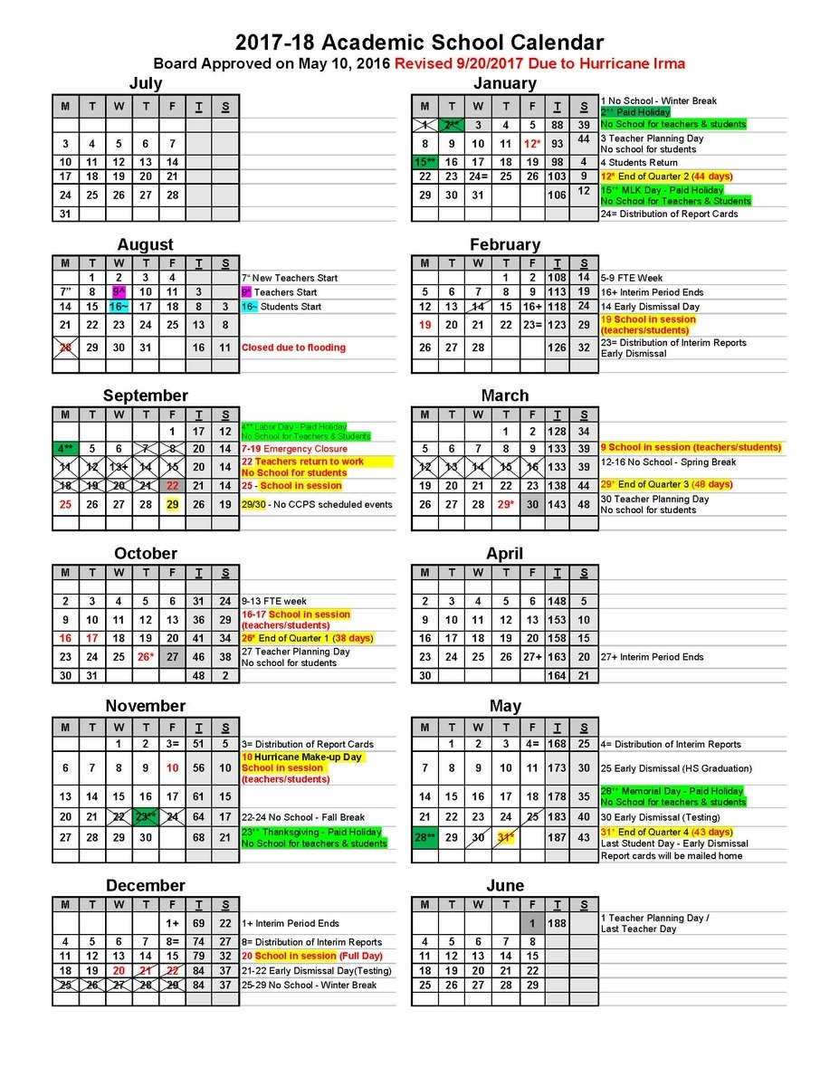 "Collier County Public Schools On Twitter: ""attached Are The Impressive School Calendar Lee County Florida"