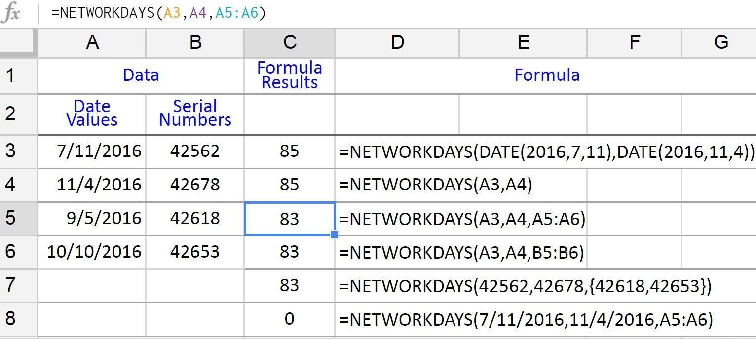 Count Working Days Between Dates In Google Sheets Calendar Countdown Excluding Weekends