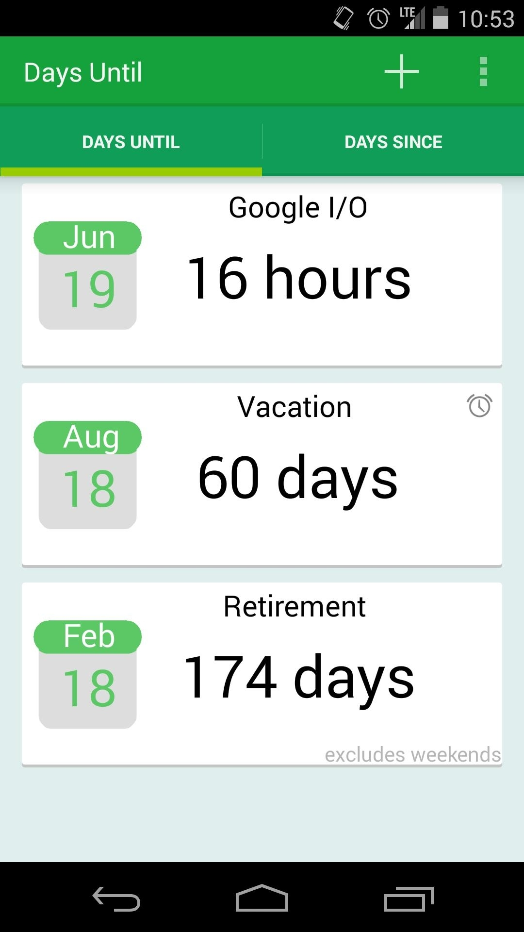 Days Until (Cards Ui) - Lite For Android - Apk Download Calendar Countdown Excluding Weekends