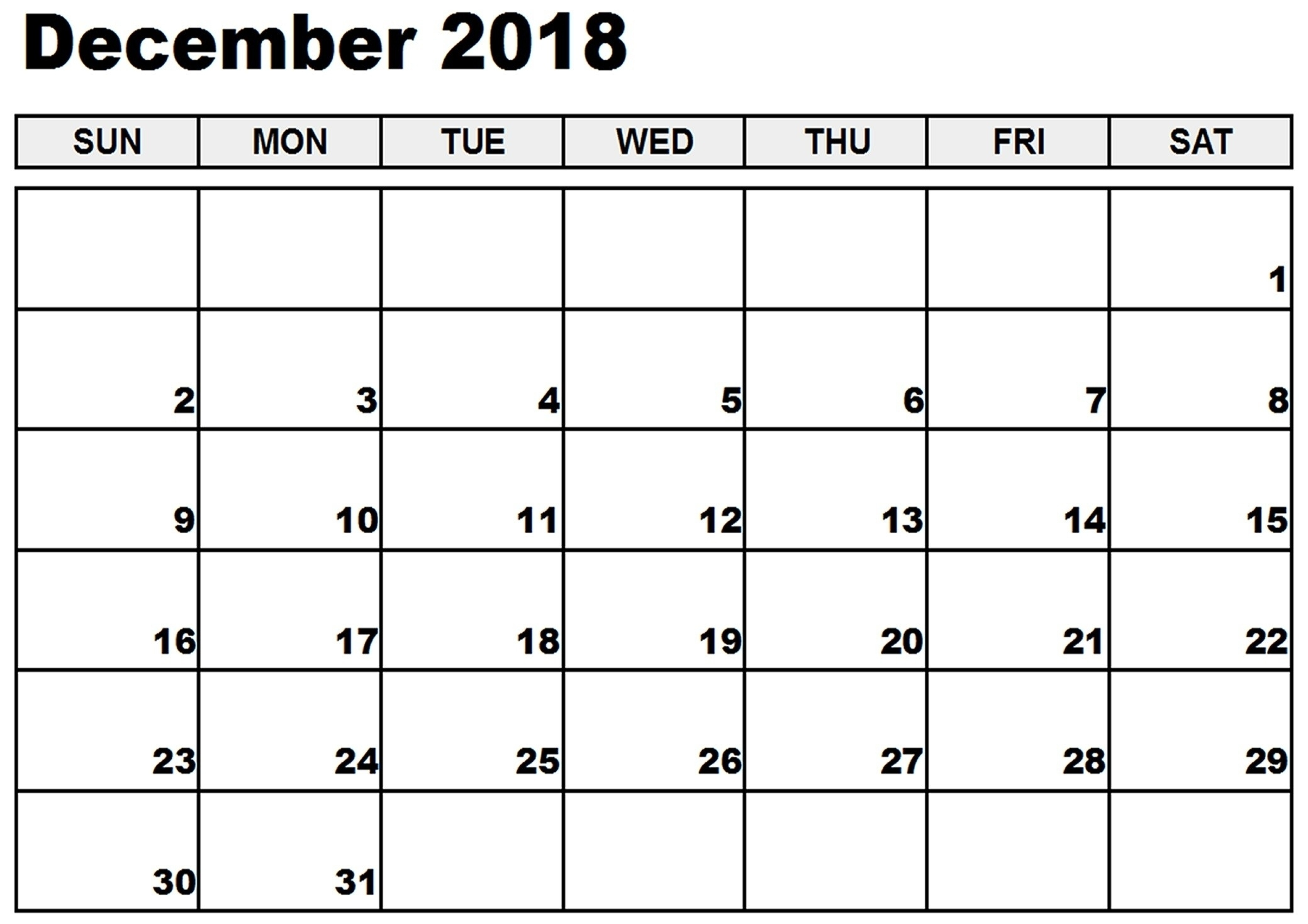 December 2018 Calendar Holidays | Kostilka Calendar Holidays In December