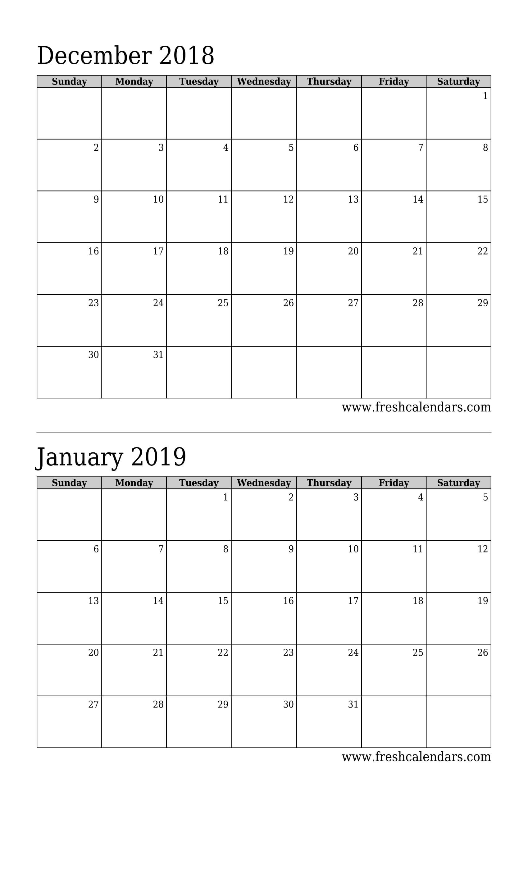 December 2018 Calendar Printable - Fresh Calendars Free Printable Calendar Double Month