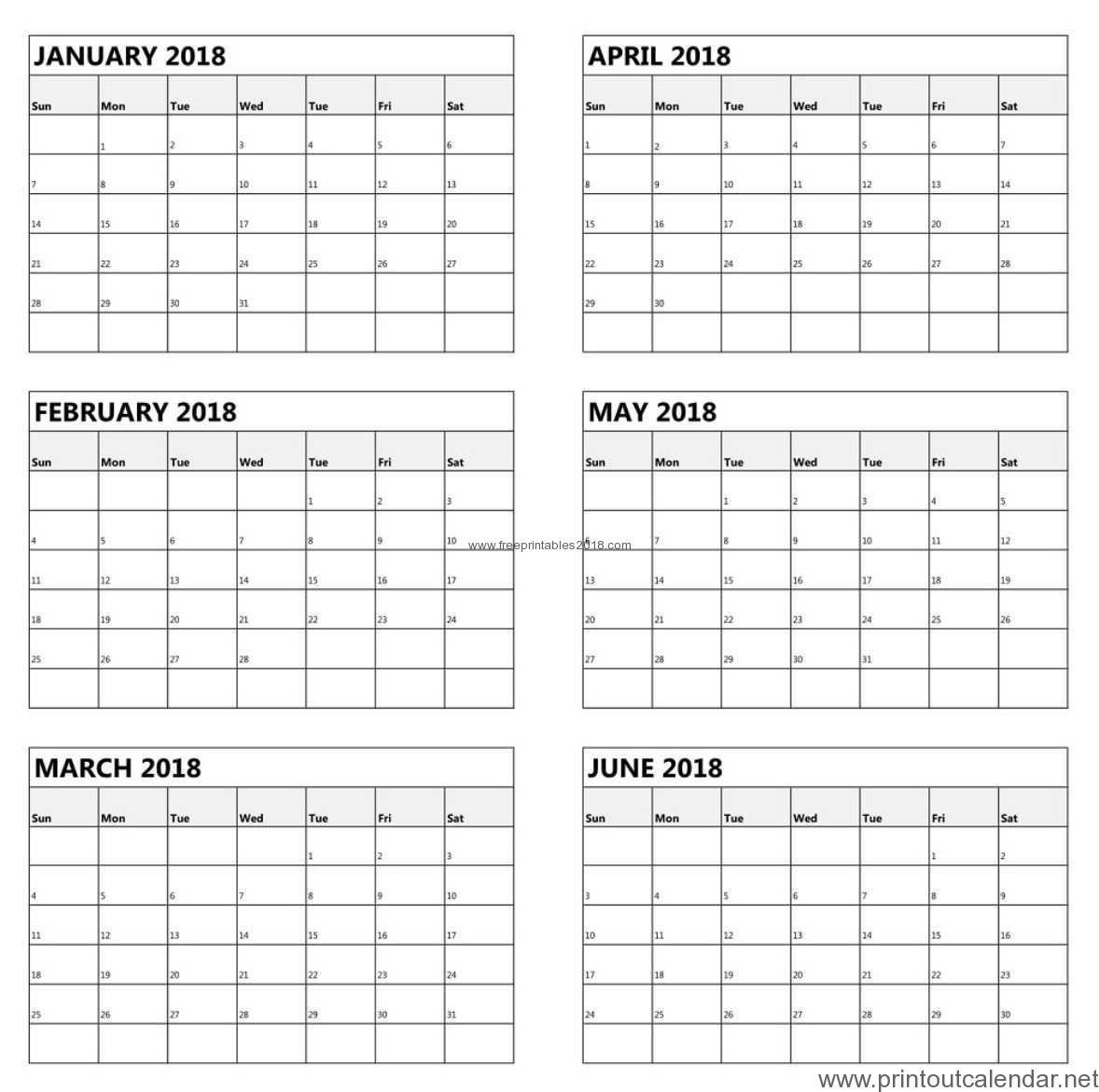 Free Printable 6 Month Calendar 2019   Free Printables 2019 Free Calendar 6 Month