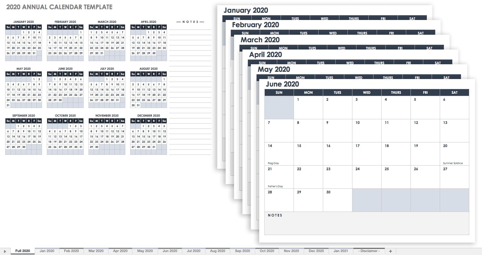 Free, Printable Excel Calendar Templates For 2019 & On | Smartsheet 5 Month Calendar Template