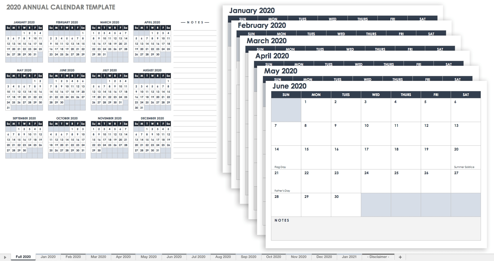 Free, Printable Excel Calendar Templates For 2019 & On | Smartsheet 5 Year Monthly Calendar