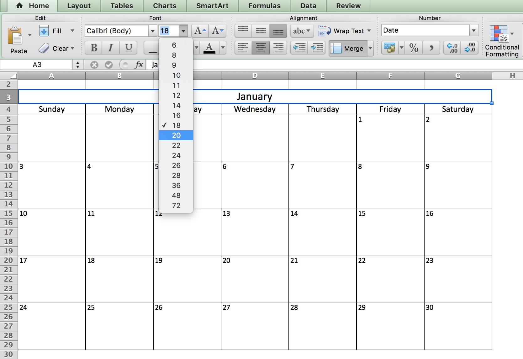 Free, Printable Excel Calendar Templates For 2019 & On | Smartsheet Calendar Template In Excel