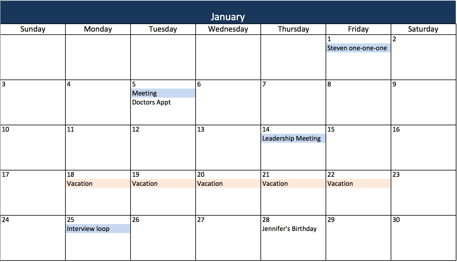 Free, Printable Excel Calendar Templates For 2019 & On   Smartsheet Excel Calendar Template Recurring Events