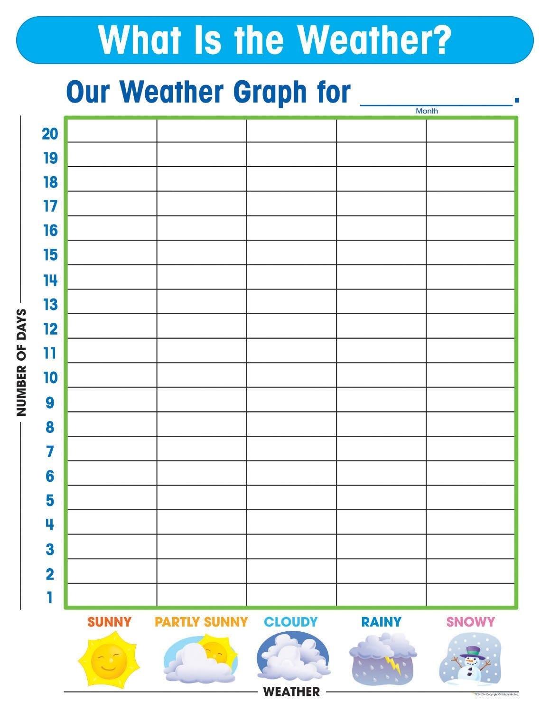 Free Printable Weather Graphs For Kindergarten Free Calendar Template Kindergarten