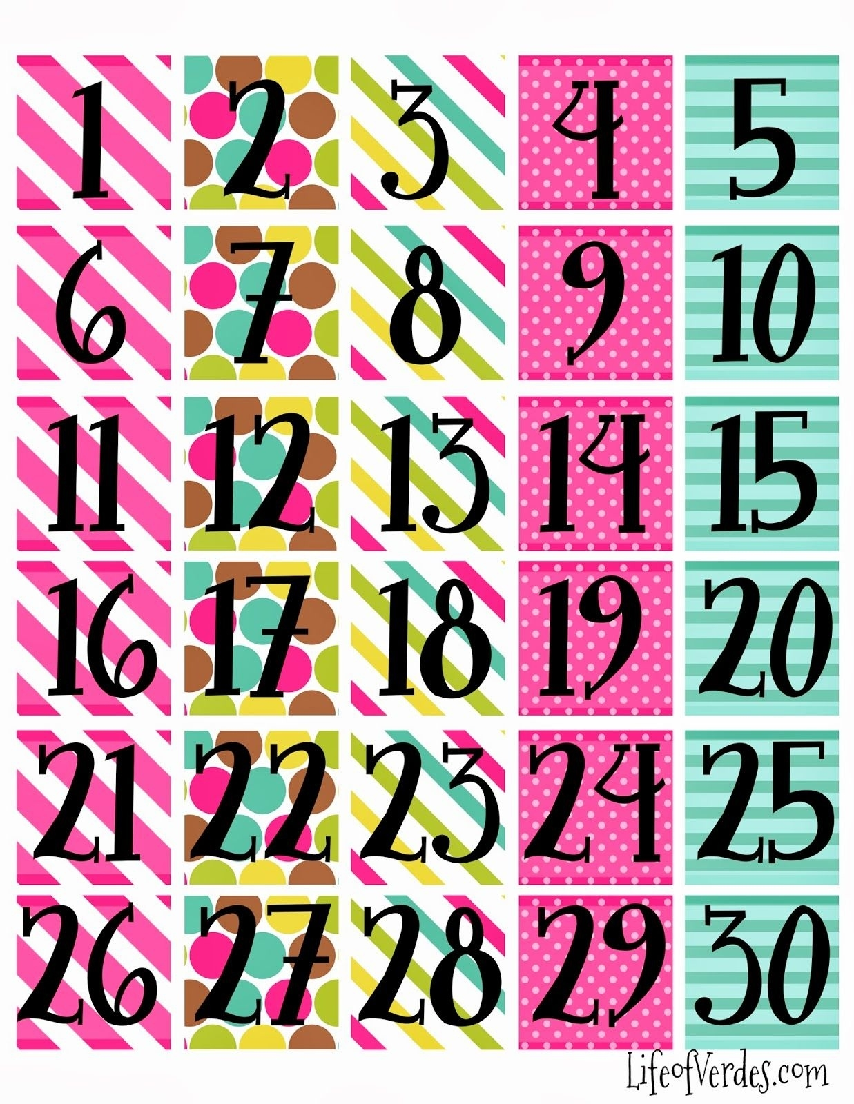 Free+Printable+Calendar+Numbers | Household Info | Calendar Numbers Printable Calendar Numbers For Preschool