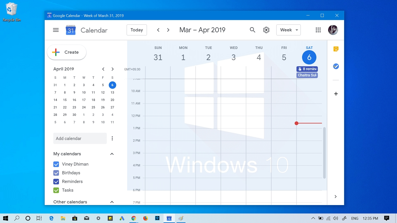 How To Add Google Calendar To Windows 10 Taskbar Calendar Icon On Taskbar