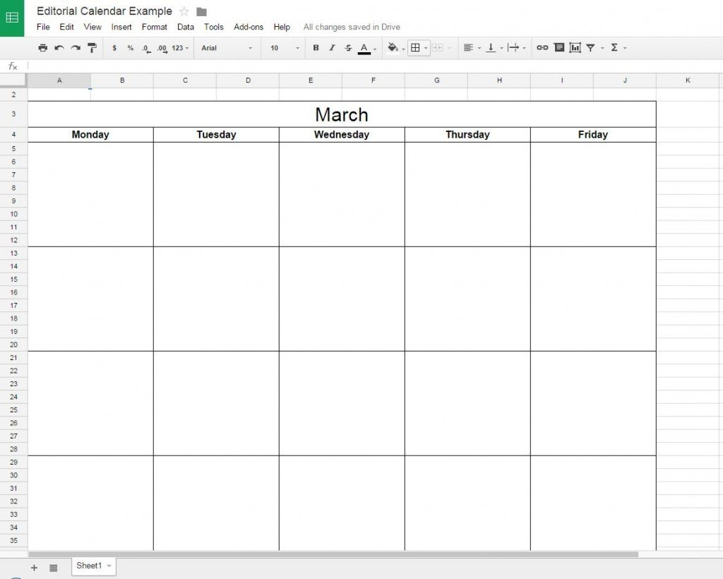 How To Create A Free Editorial Calendar Using Google Docs - Tutorial Is There A Calendar Template In Google Docs