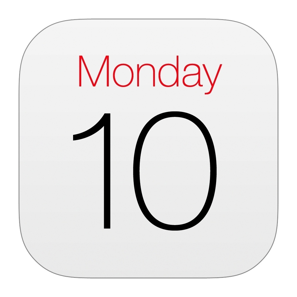 Iphone 5 Calendar Icon Missing • Printable Blank Calendar Template Calendar App Icon Missing