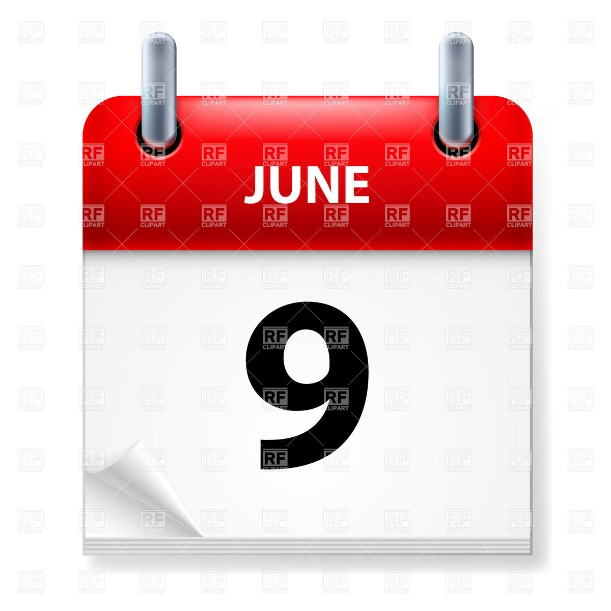 June 9 - Calendar Icon Vector Image Of Calendars, Layouts © Dvarg Why Does My Calendar Icon Have A Number On It