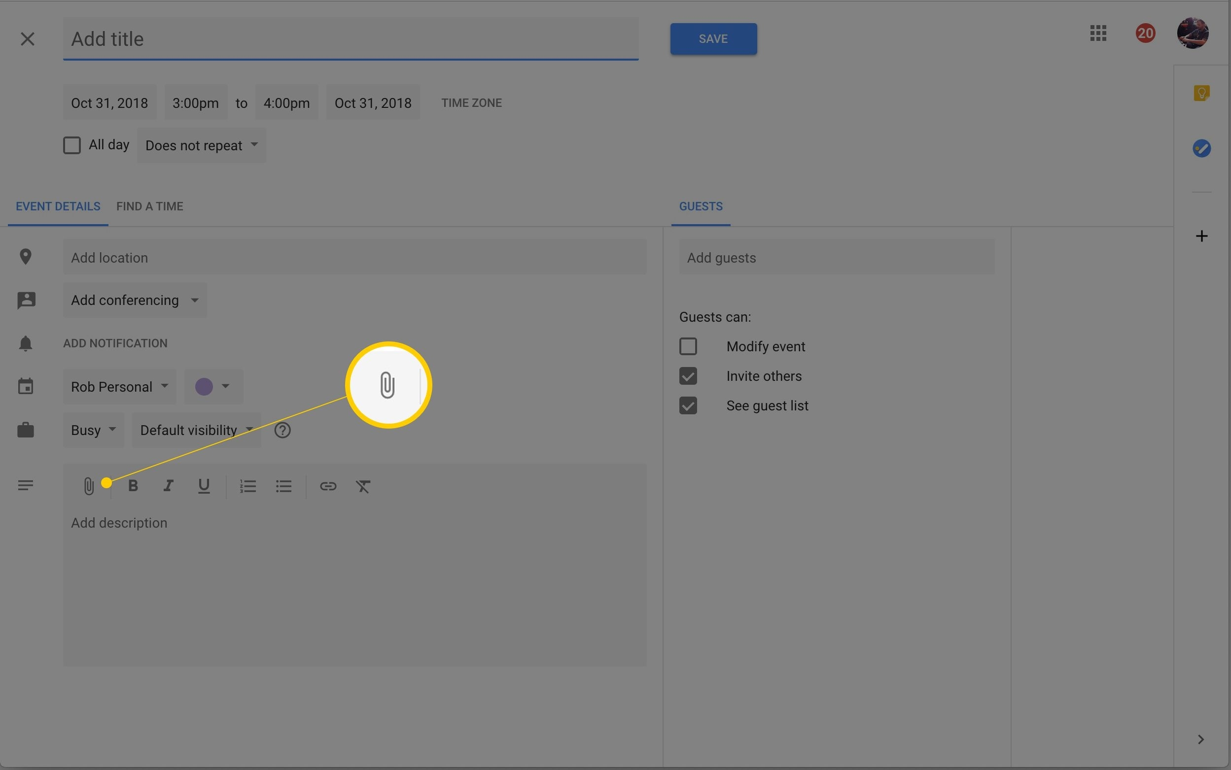 Link Google Docs Files And Google Calendar Events Add Calendar Event Icon