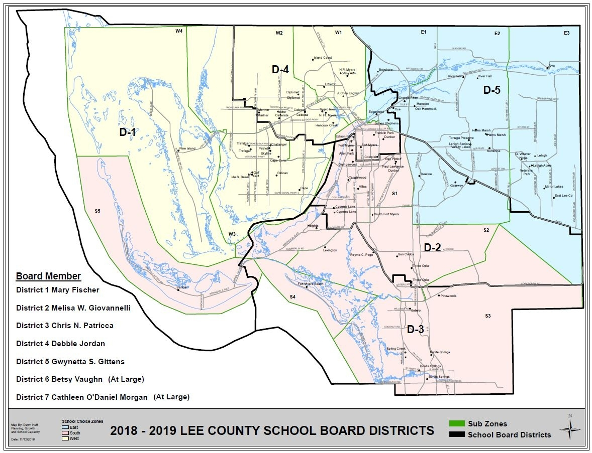 Map Of Residential Areas - Lee County Schools Impressive School Calendar Lee County Florida
