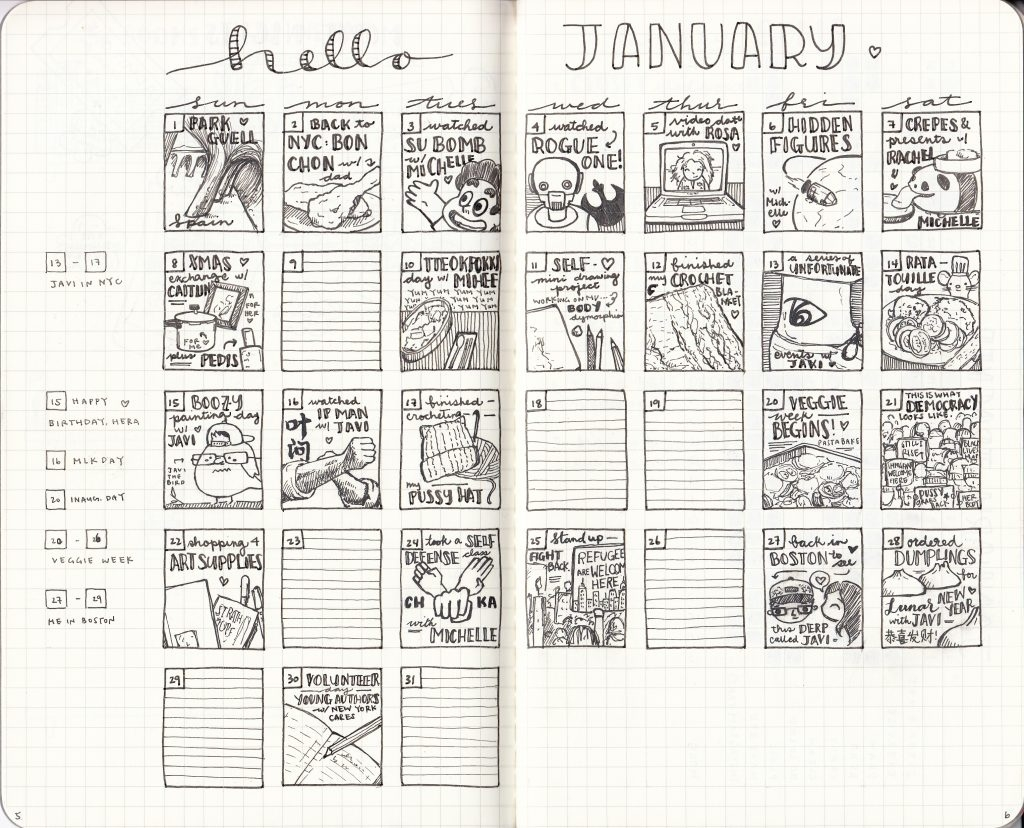 Monkey Themed Bullet Journal Monthly Calendar – Bullet Journals And Monthly Calendar Bullet Journal