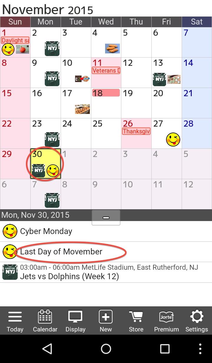Movember #jorte #calendar Add More Fun Holidays & Events To Your Add Calendar Event Icon