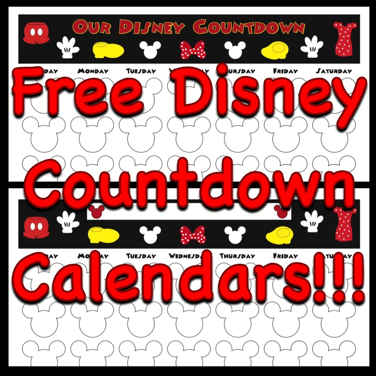 My Disney Life: Countdown Calendars Countdown Calendar Printable Disney