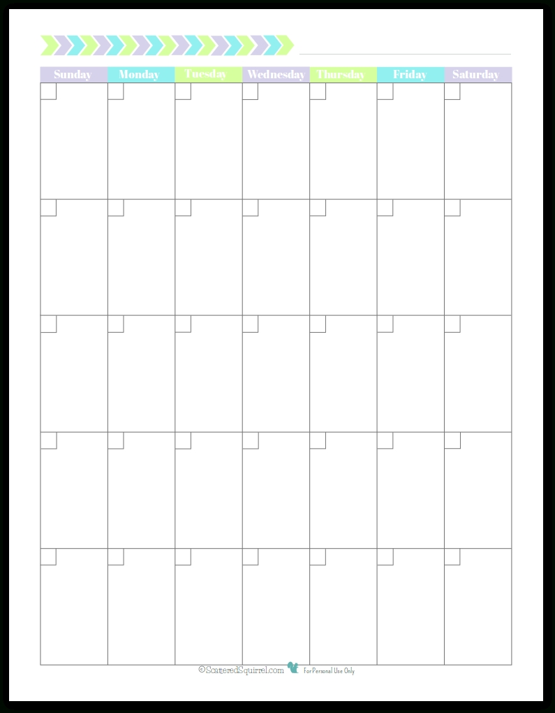 New Planner Printables {Reader Request} | Printables | Blank Monthly Blank Calendar To Use