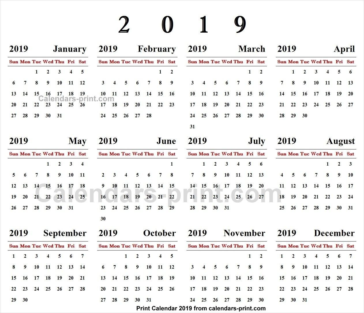 Online Calendar 2019 | 2019 Yearly Calendar | Calendar 2019 Online Calendar Printing With Photos