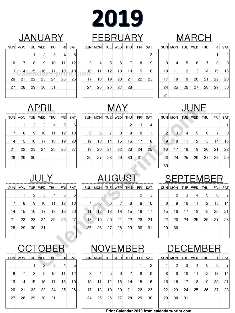 Online Calendar 2019 Printable Template With Notes | Holidays Online Calendar Printing With Photos
