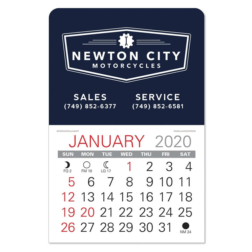 Peel And Stick Calendars, Mini Sticky Calendars - Just 60¢! | On The Impressive 2020 Calendar For Sale