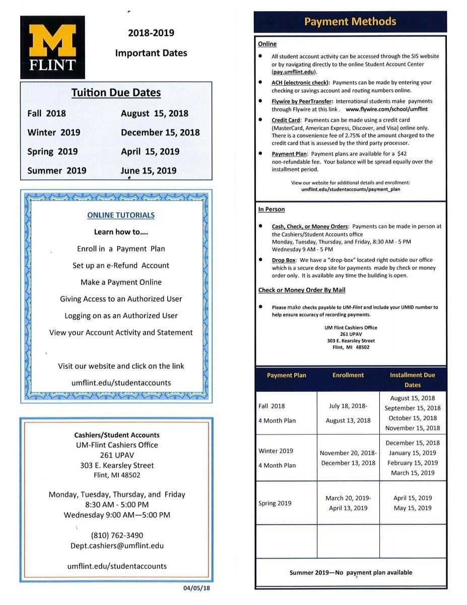 Physical Therapy | University Of Michigan-Flint Impressive U Michigan School Calendar