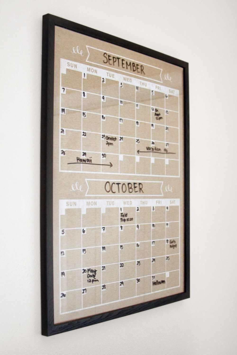 Please Read Entire Listing Before Ordering, Thank You! /// Frame Is 2 Month Calendar Whiteboard