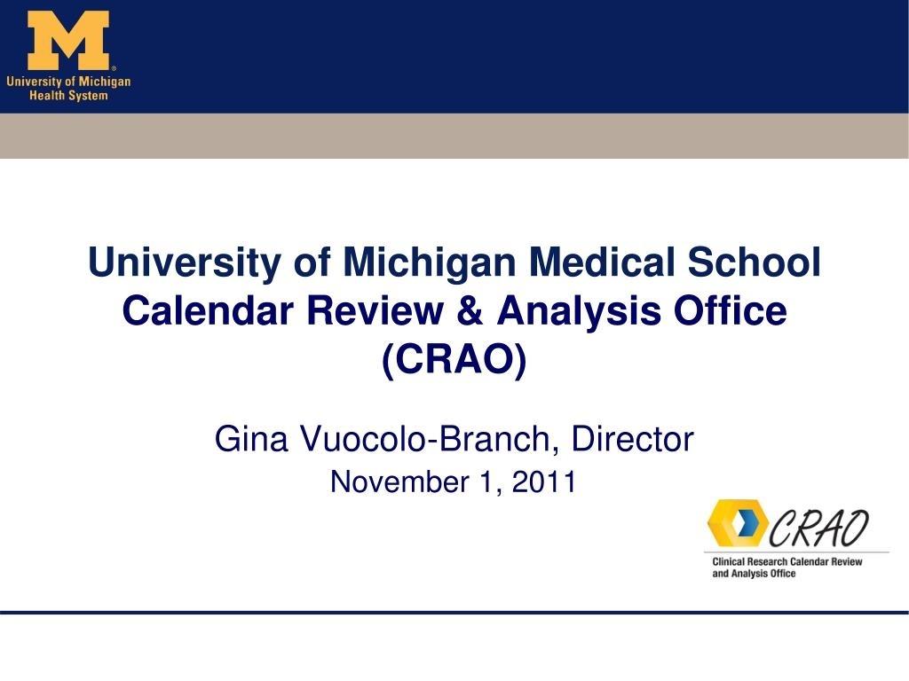 Ppt - University Of Michigan Medical School Calendar Review Impressive U Michigan School Calendar