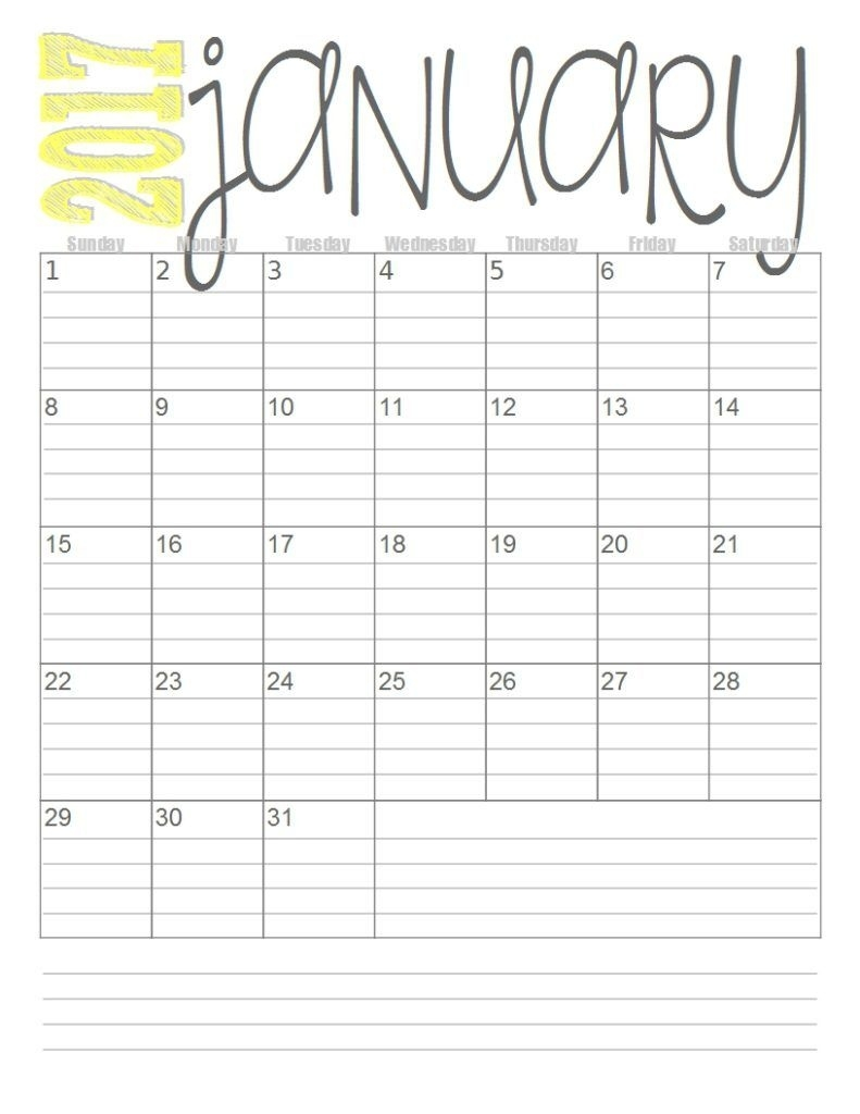 Print These Simple Lined Monthly Calendars For Free. | Quotes And Print A Free Monthly Calendar