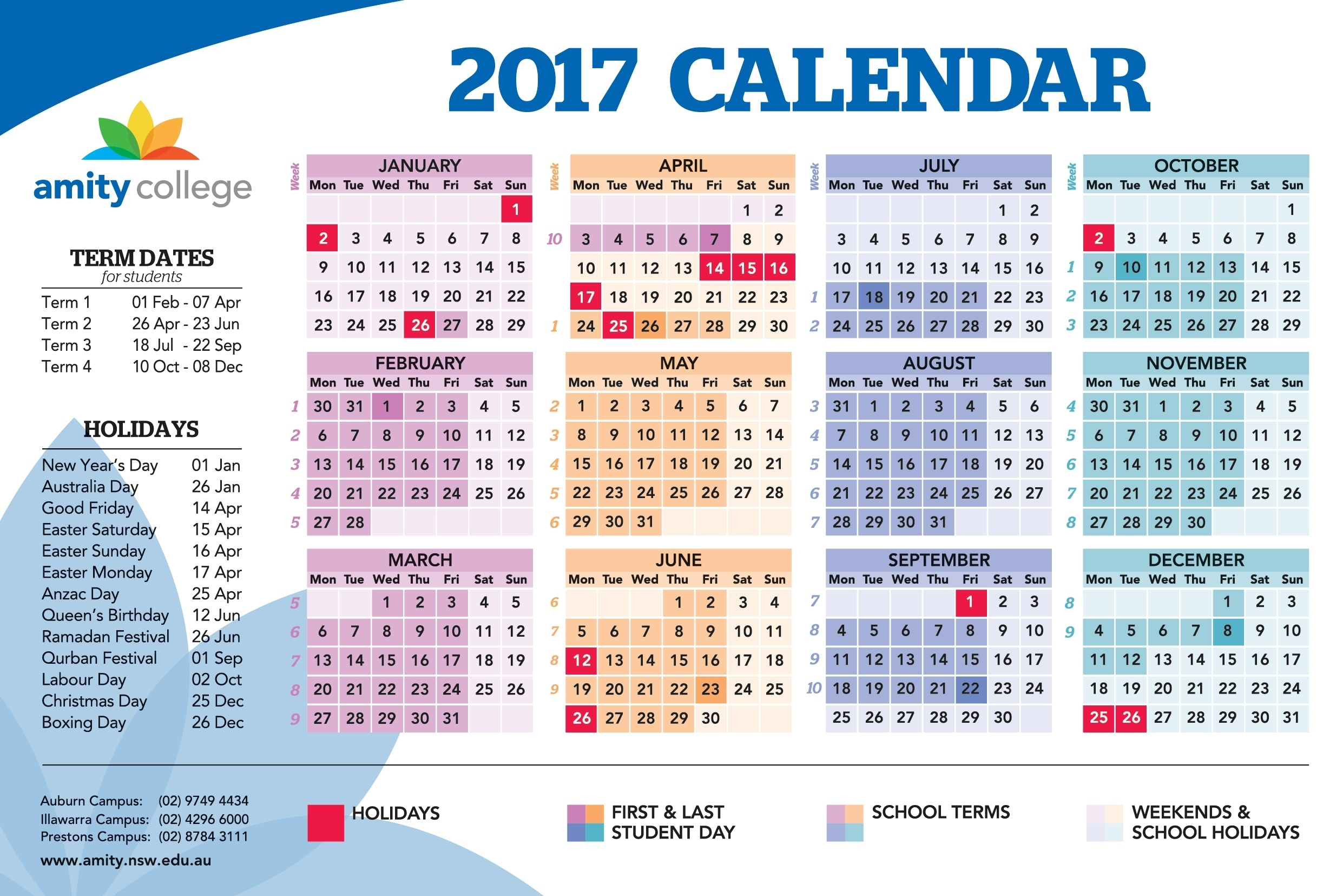 Printable Calendar 2018 Nsw School Holidays | Printable Calendar 2019 Calendar Public Holidays Nsw