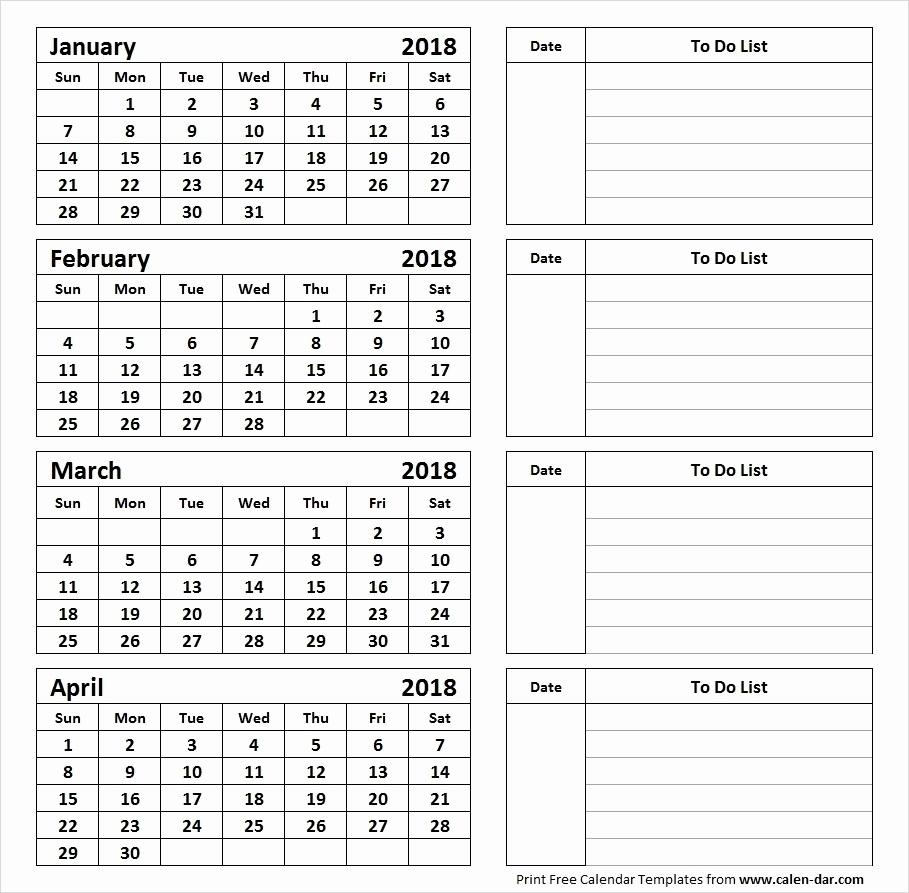Printable Calendar 4 Months Per Page 2019 • Printable Blank Calendar Calendar Template Three Months Per Page